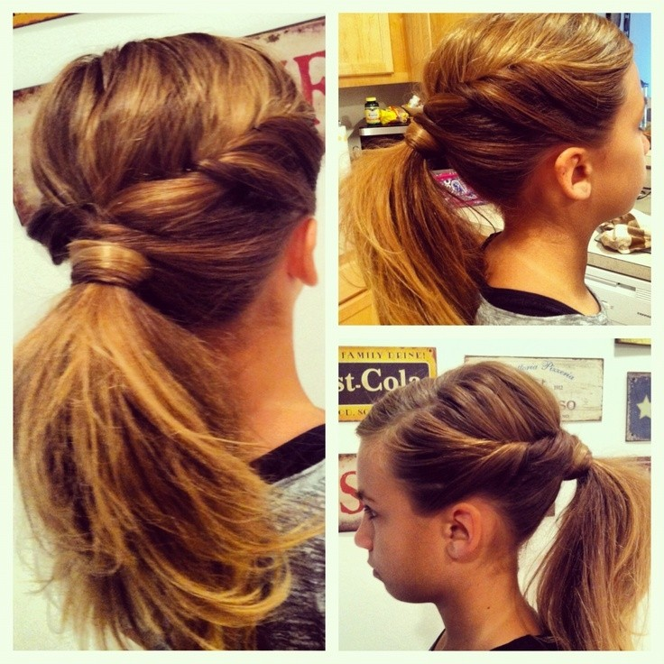 Twisted Ponytail Idea for Girls