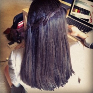 Two-Strand Waterfall Braid for Mid-Length Hair