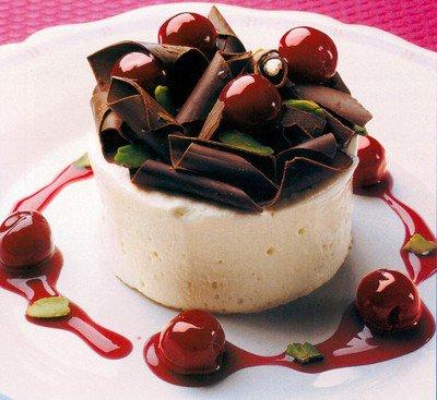 White Chocolate Cake with Cherries