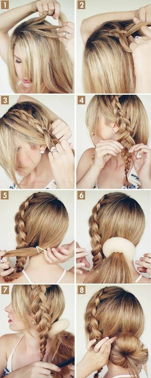 Braid into Bun Hairstyle Tutorial