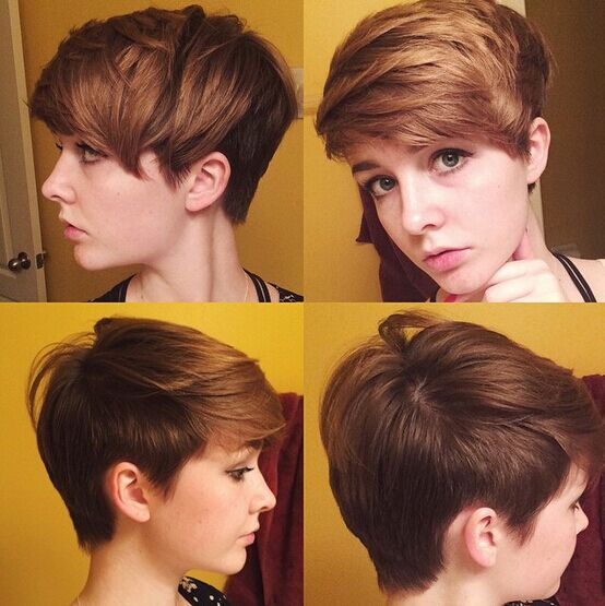 Cool Short Haircut with Side Swept Bangs