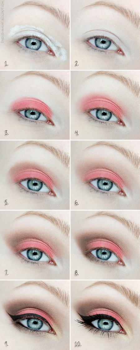 Coral Eye Makeup