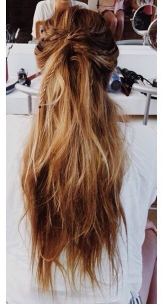 Cute Long Hairstyle with Braids