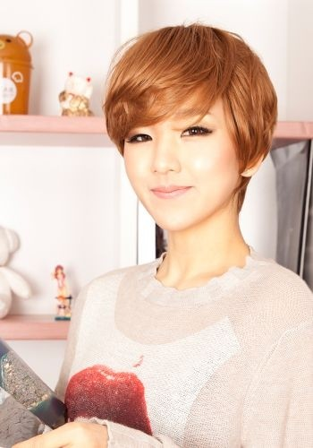 Cute Short Haircut with Side Swept Bangs