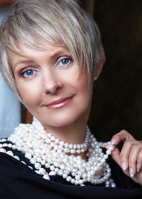 Cute Short Layered Haircut for Women Over 40