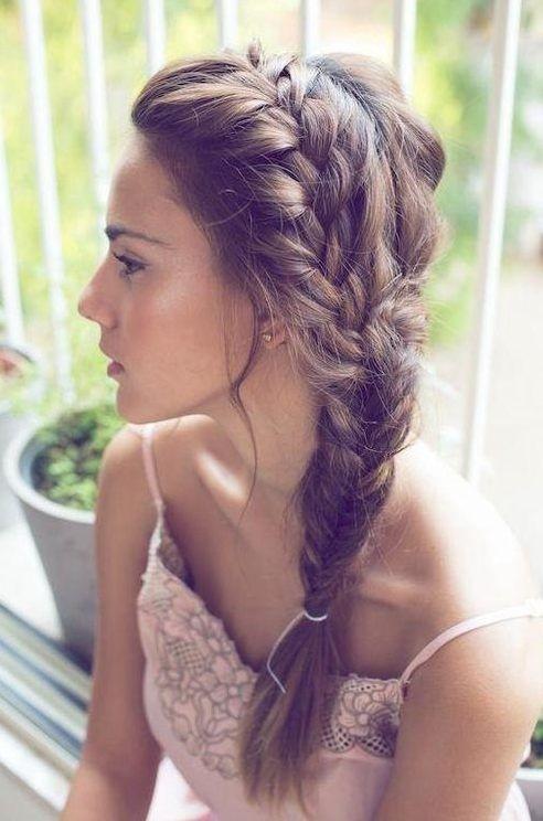 Cute Side Braided Ponytail