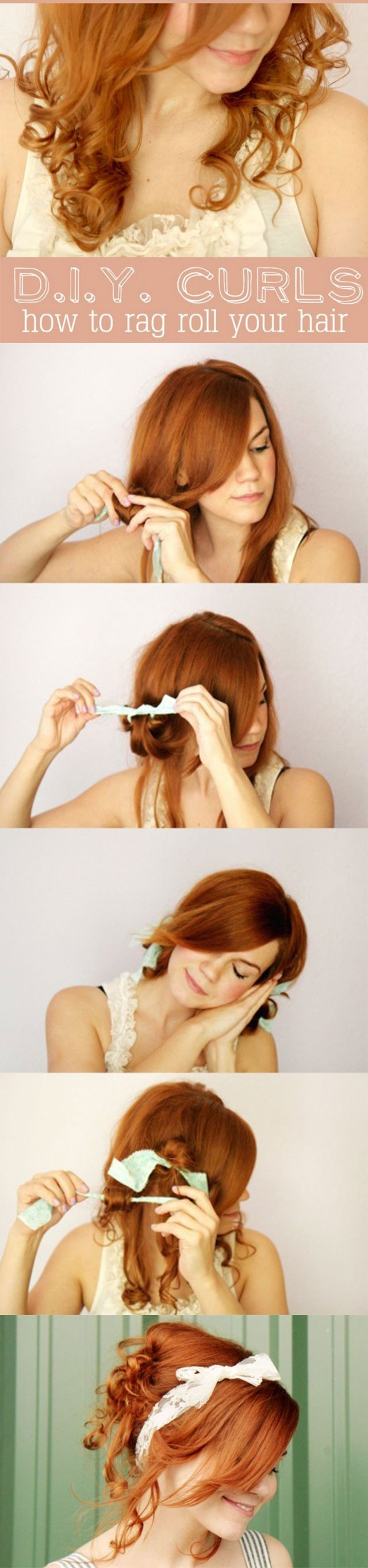 DIY Curls: How to Rag Roll your Hair