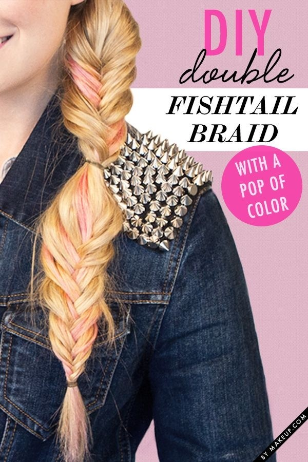 DIY Double Fishtail Braid Ponytail Hairstyle