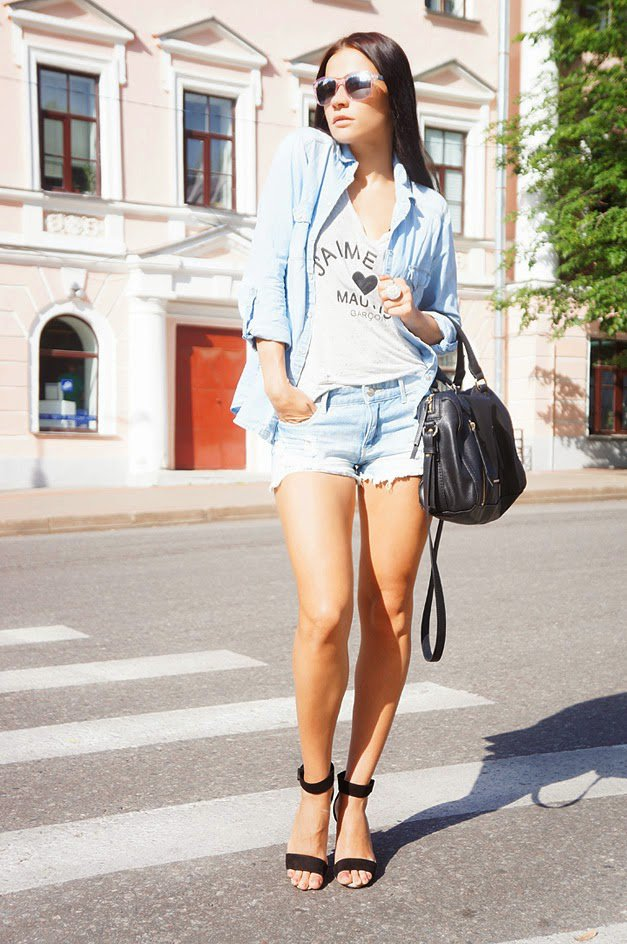 Long Denim Shirt Women