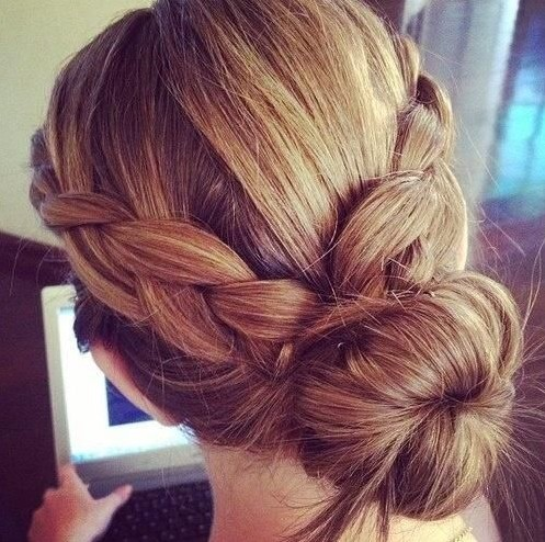 Double Braided Bun Hairstyle