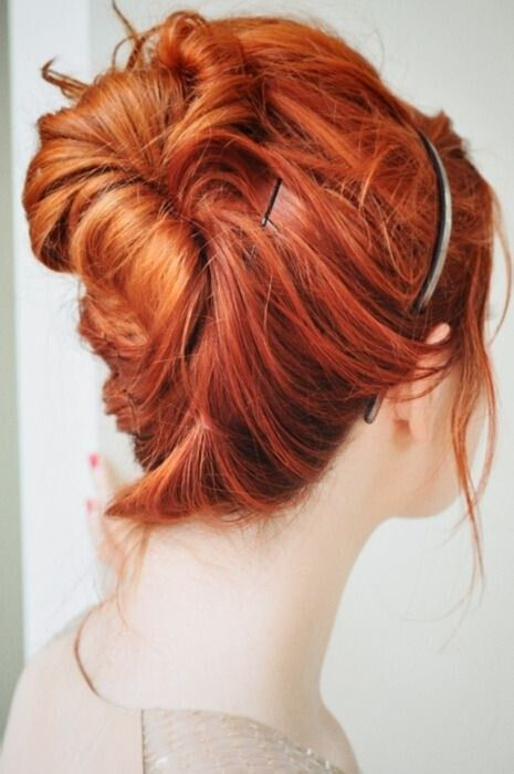 Cute Hairstyles For Medium Red Hair : Easy updo hairstyles for medium hair pretty designs