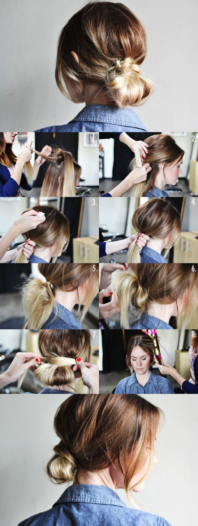 Easy Low Bun for Everyday Hairstyles