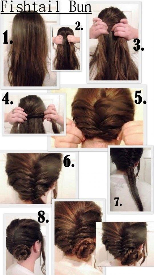 Fishtail Braided Bun Hairstyle Tutorial