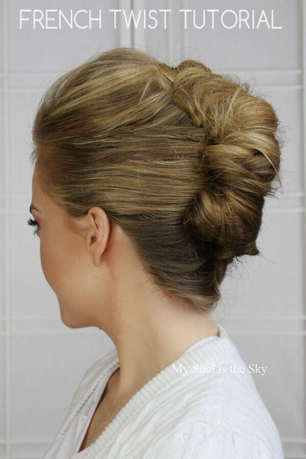 How to make a messy hair bun with medium length hair