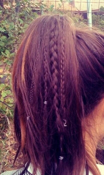 High Ponytail with Braids