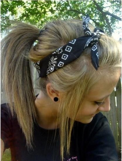 High Ponytail with Headband