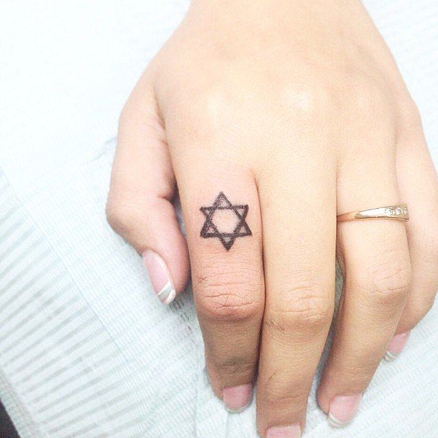 Jewish-Star Tattoo for women