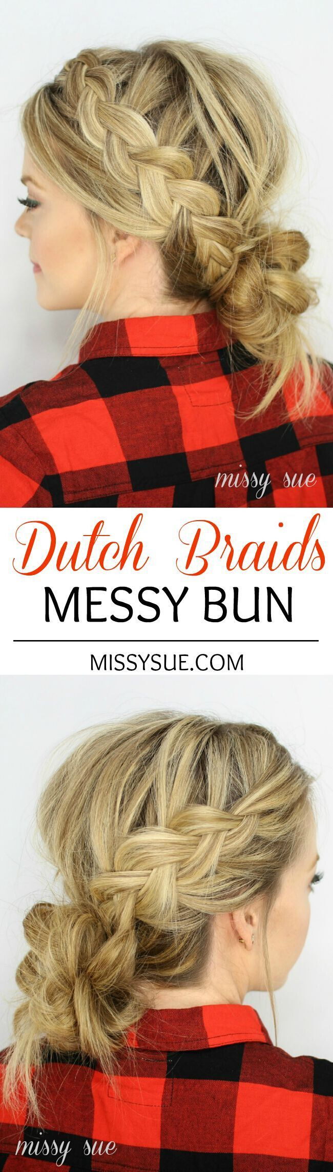 Loose Dutch Braided Bun