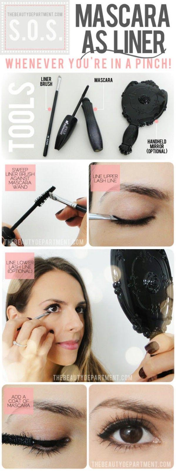 Mascara as Liner