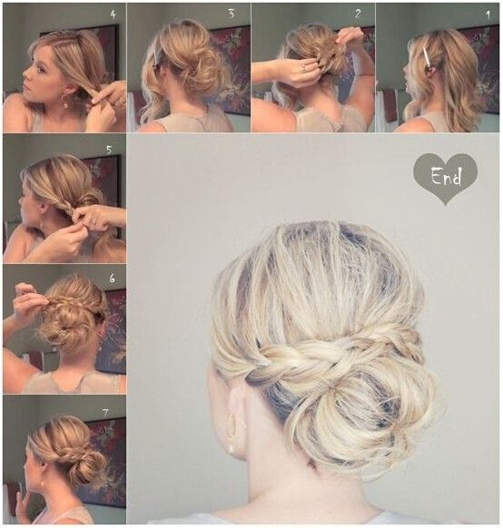 Tremendous 20 Easy Updo Hairstyles For Medium Hair Pretty Designs Short Hairstyles Gunalazisus