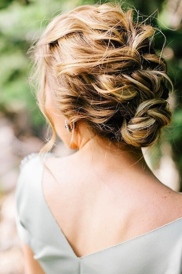 Messy Braided Updo For Wedding Hairstyle Ideas Via