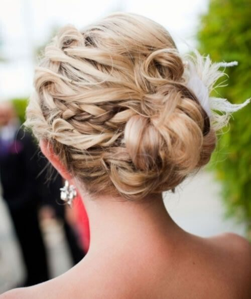 Messy Braided Updo for Wedding Hairstyles