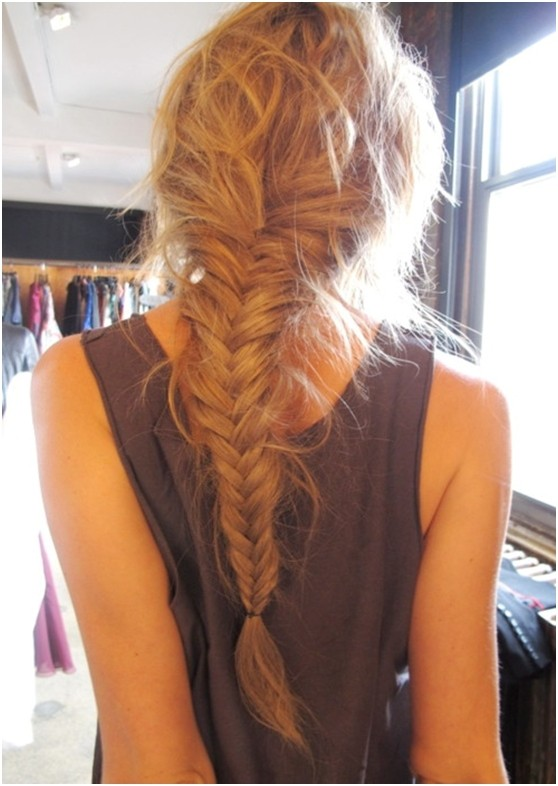 Messy Fishtail Braided Hairstyle for Long Hair/Tumblr