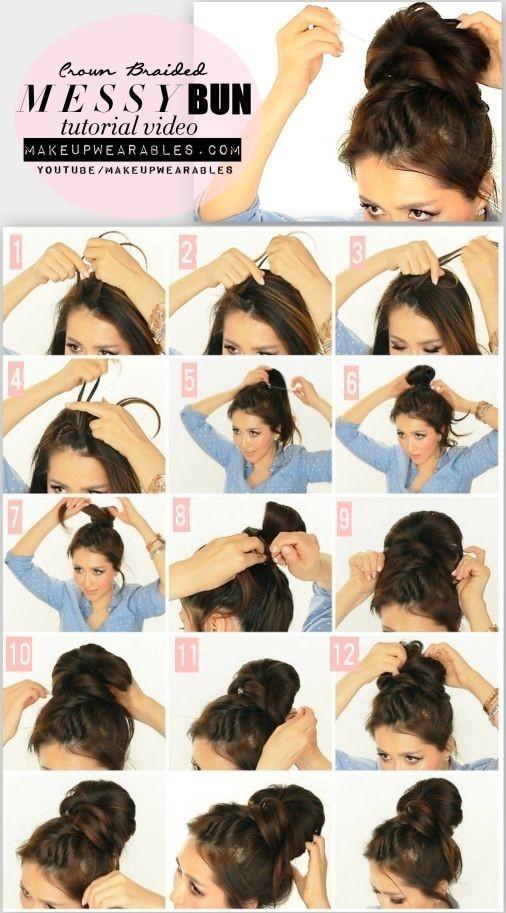Messy High Bun Hairstyle Tutorial