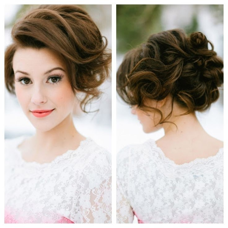 Messy Updo for Bridesmaids Hairstyles