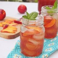 Nectarine Basil Iced Tea