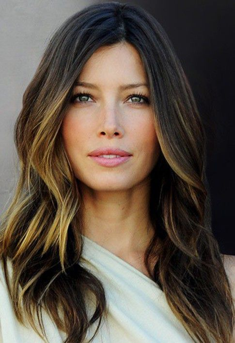 Ombre Hairstyle for Long Wavy Hair