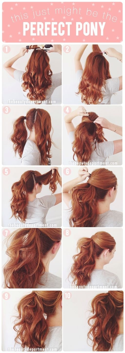 Perfect Ponytail Hairstyle for Curly Hair