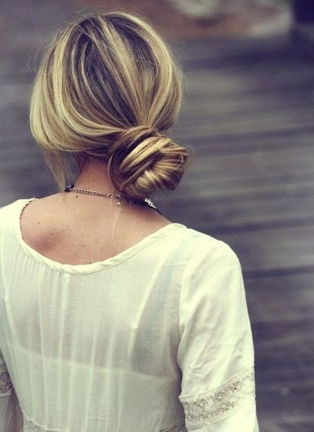 Perfect Side Bun Hairstyle