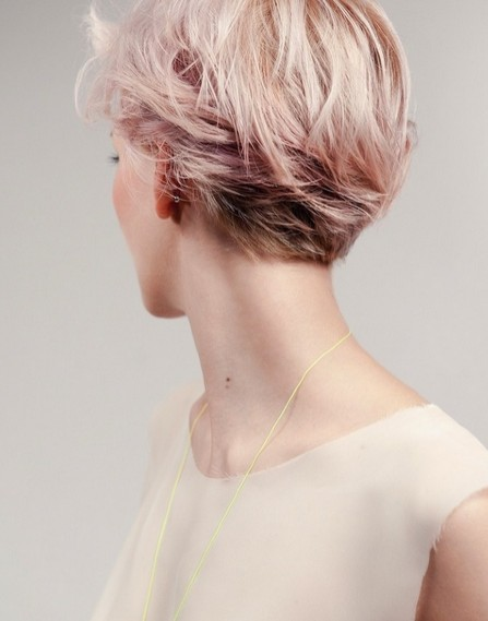 Pink Pixie Haircut for Short Hairstyles