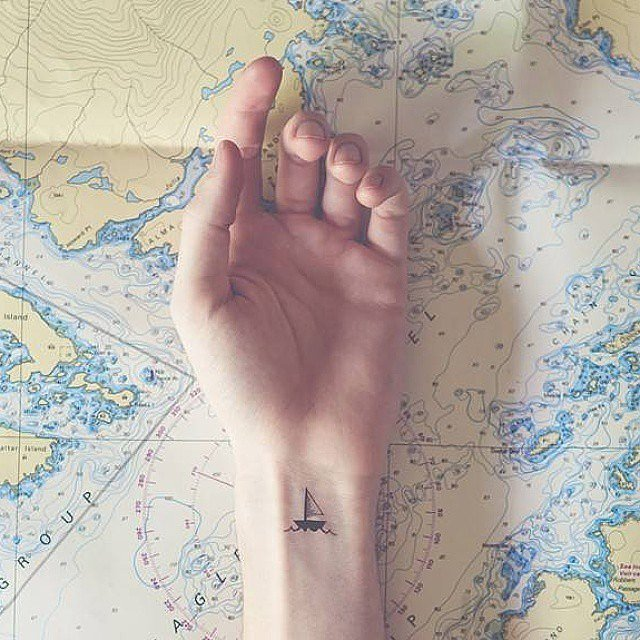 Sail-Away Tattoo