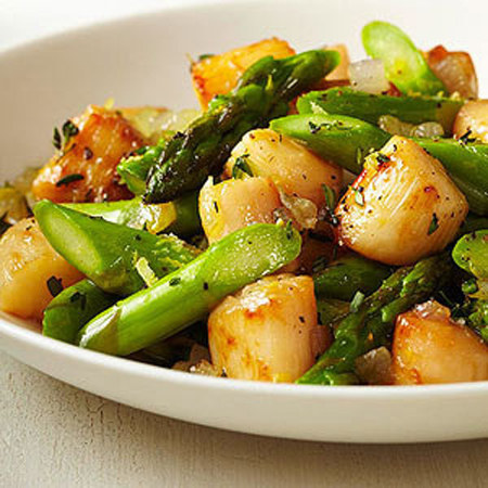 Scallops With Asparagus Recipes — Dishmaps
