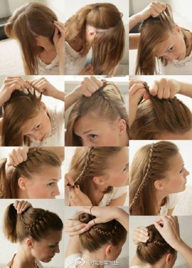 Несложные укладки волос своими руками