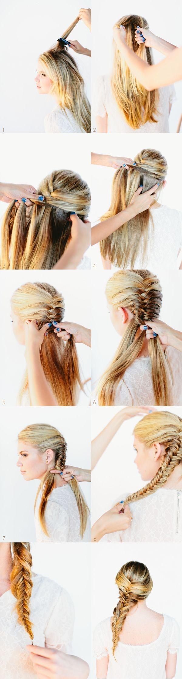 Side Fishtail Braid Hairstyle Tutorial