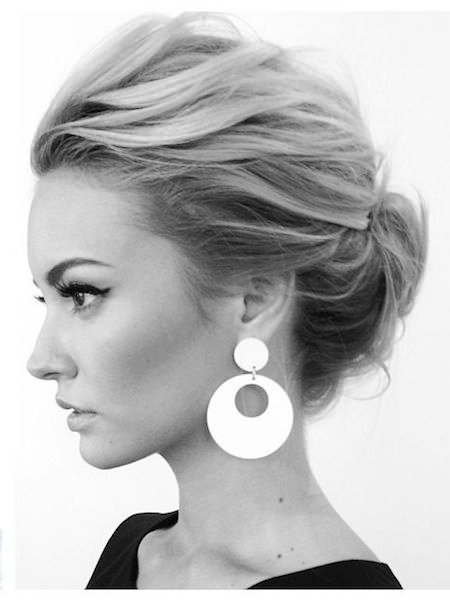 Simple Updo for Office Hairstyle Ideas