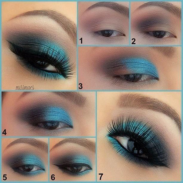 Sky Blue Eye Makeup