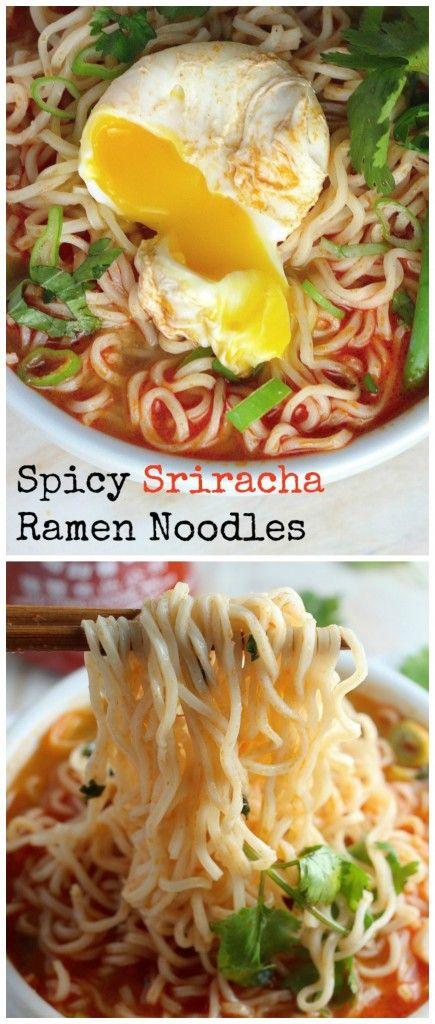 Spicy Sriracha Ramen Noodles