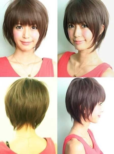 Straight Bob Haircut with Bangs