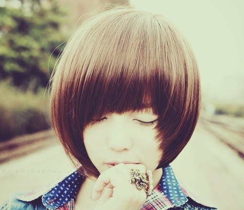 Straight Bob Hairstyle for Girls