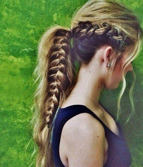 Stylish Ponytail with Braid