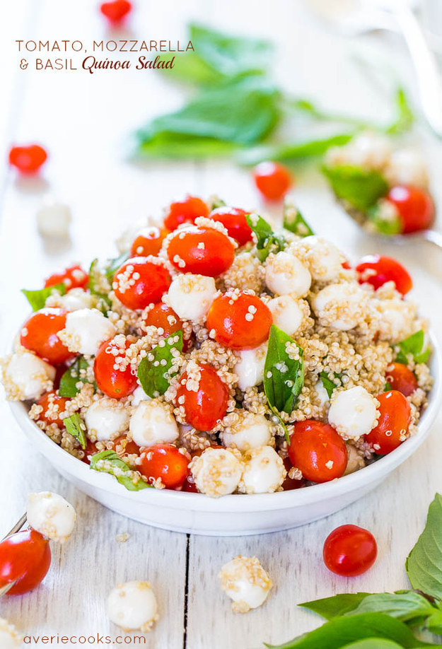 Tomato, Mozzarella and Basil Quinoa Salad
