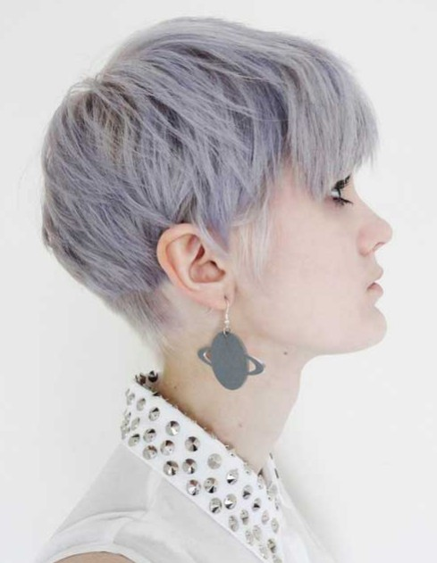 Trendy Pixie Haircut for Blue Hair