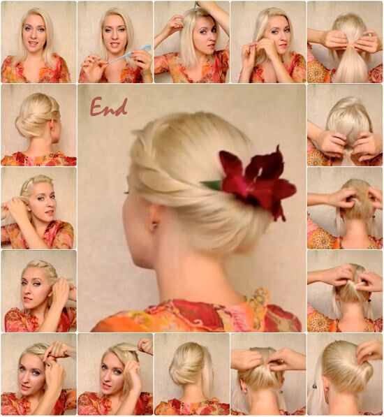 Twisted Updo for Blond Hair