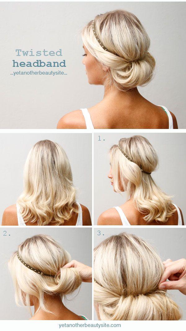 Sensational 20 Easy Updo Hairstyles For Medium Hair Pretty Designs Short Hairstyles Gunalazisus
