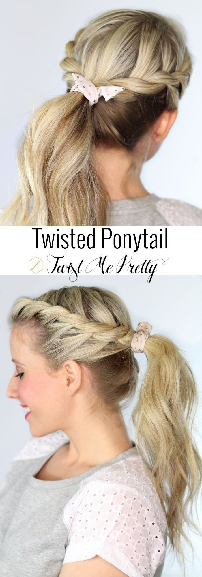 Twisted Ponytail for Long Hair