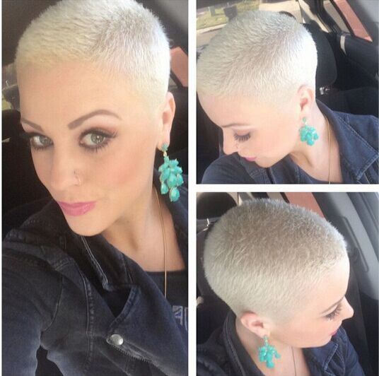 Very Short Blond Haircut